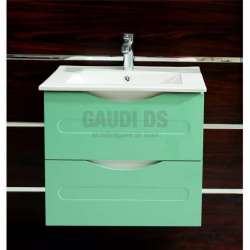 Долен PVC шкаф Evan 60 см с мивка, конзолен, зелено-бял gds_pvc_ICP6093G