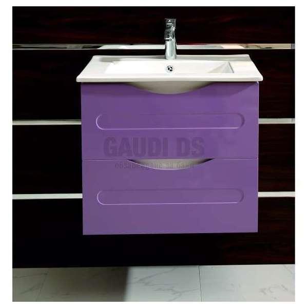 Долен PVC шкаф Evan 60 см с мивка, конзолен, лилаво-бял gds_pvc_ICP6093P