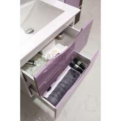 Долен PVC шкаф Evan 60 см с мивка, конзолен, лилаво-бял 2