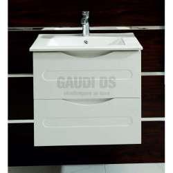 Долен PVC шкаф Evan 60 см с мивка, конзолен, бял gds_pvc_ICP6093W