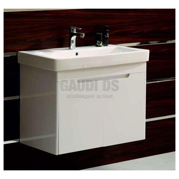 Долен PVC шкаф Lana 80 см с мивка, конзолен, бял gds_pvc_ICP8063