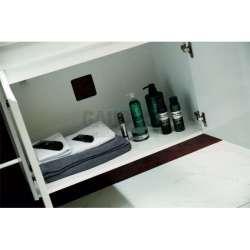 Долен PVC шкаф Lana 80 см с мивка, конзолен, бял 2