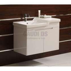 Долен PVC шкаф Mona 83 см с мивка, конзолен, бял gds_pvc_ICP8363