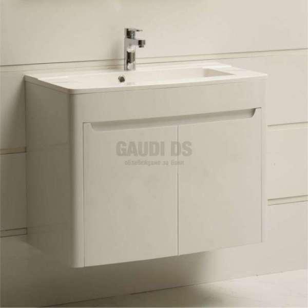 Долен PVC шкаф 85 см с мивка, конзолен, бял gds_pvc_ICP6249