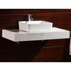 Плот PVC 80 см за мивка, конзолен, бял gds_pvc_ICP8012W
