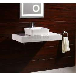 Плот PVC 100 см за мивка, конзолен, бял gds_pvc_ICP10012W