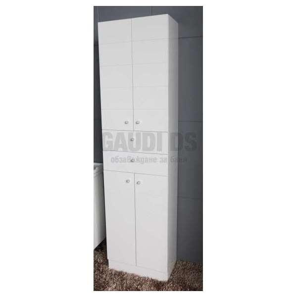 Двойна колона PVC бяла, стояща 50х30х192 см gds_pvc_ICP001