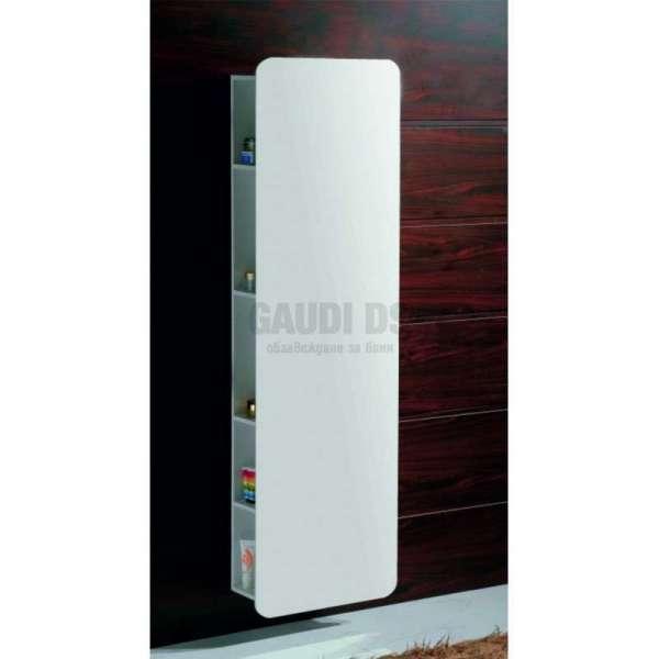 Огледаална колона PVC бяла, конзолна 45х17х160 см gds_pvc_ICP4517