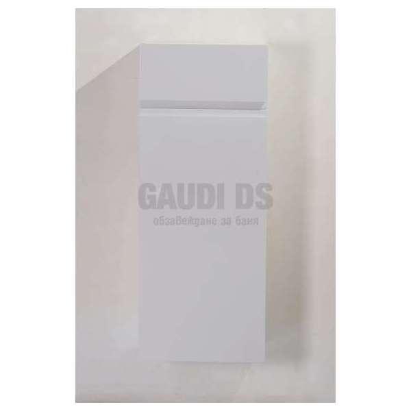 Колона PVC бяла, конзолна 40х24х100 см, с кош за пране gds_pvc_ICP 4024-2