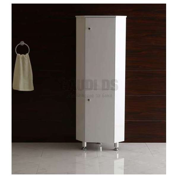 Ъглова колона PVC бяла, 40х40х150 см gds_pvc_ICP4015
