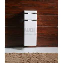 Колона PVC бяла, конзолна 30х30х100 см, с кош за пране 1