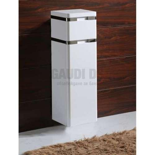 Колона PVC бяла, конзолна 30х30х100 см, с кош за пране
