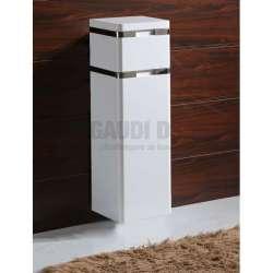 Колона PVC бяла, конзолна 30х30х100 см, с кош за пране gds_pvc_ICP310-2