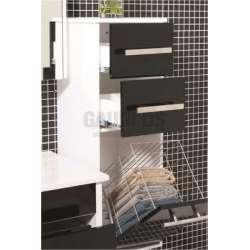 Колона PVC конзолна 29х33х91 см, с кош за пране, черна 2