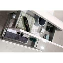 Долен PVC шкаф 60 см с мивка iStone, конзолен, бял 1
