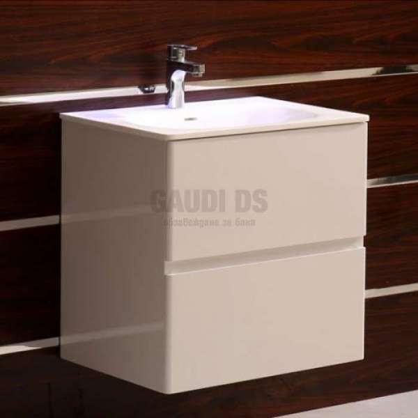 Долен PVC шкаф 60 см с мивка iStone, конзолен, бял gds_pvc_ICP6027