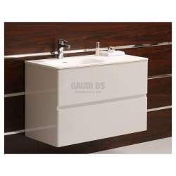 Долен PVC шкаф 90 см с мивка iStone, конзолен, бял gds_ICP9060