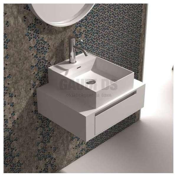 Долен шкаф 60 см бял с мивка купа iStone бял мат gds_ICP6029/38338W
