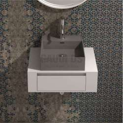 Долен шкаф 60 см бял с мивка купа iStone сив мат gds_ICP6029/38338G