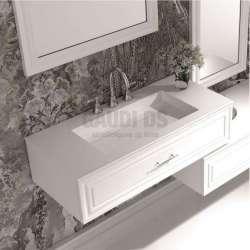 Долен шкаф 100 см бял с мивка iStone с чекмедже gds_ICC10025