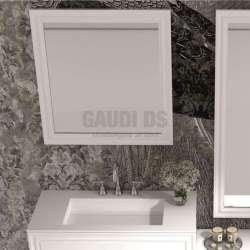 Огледало за баня с рамка iStone 80х80 см gds_ICM7204