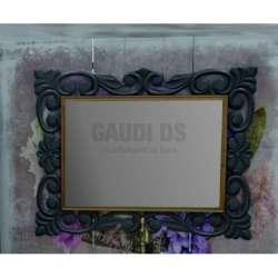 Огледало за баня с рамка от масив липа 70х90 см, сив мат gds_ICM7206G