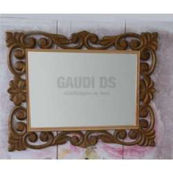 Огледало за баня с рамка от масив дъб 70х90 см, натурален дъб gds_ICM7206