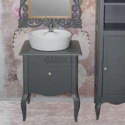 Ретро долен шкаф 60 см от масив липа - за мивка тип купа, сив gds_ICP6073G