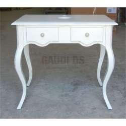 Ретро долен шкаф 80 см от масив липа - за мивка тип купа, бял мат gds_ICP8073w
