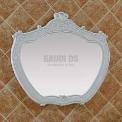 Ретро огледало с PVC рамка 88х80 см, бяло, ръчна изработка gds_pvc_ICM7203