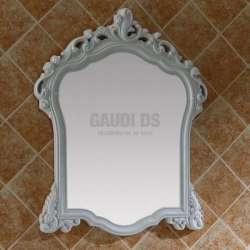 Ретро огледало с PVC рамка 71х94 см, бяло, ръчна изработка gds_pvc_ICM7202