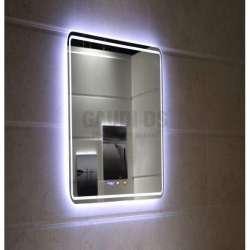 """Огледало с LED осветление 60х80сm, """"Touch screen"""" и часовник gds_ICL1799"""