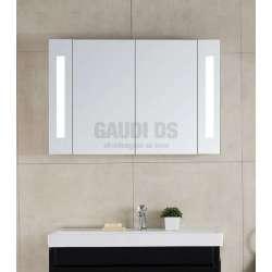 Двоен огледален горен шкаф, LED осветление 90х60 см gds_ICL1725