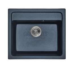 Гранитна кухненска мивка за вграждане, 57 см, черна gds_ICGS 8304black