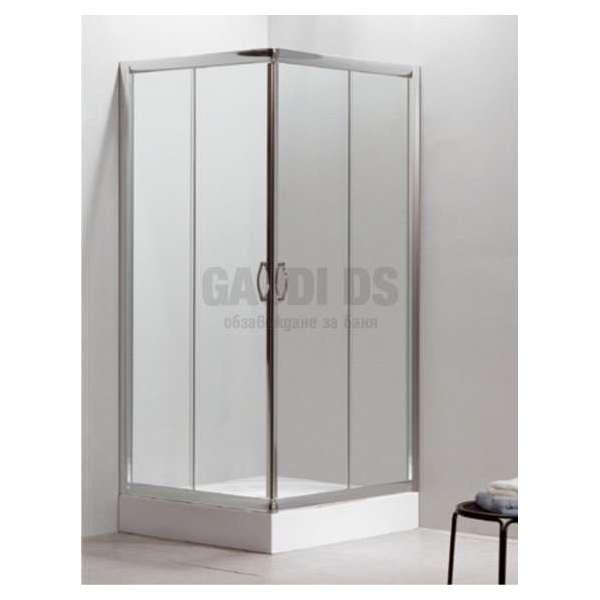 Квадратна душ кабина комплект 80х80 - прозрачна gds_ICS 8516/80А