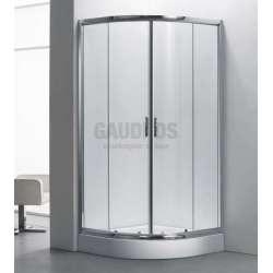 Овална душ кабина комплект 80х80 - прозрачна gds_ICS 107A/80
