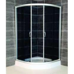 Овална душ кабина Chocolate комплект 90х90 черно стъкло gds_ICS 185G