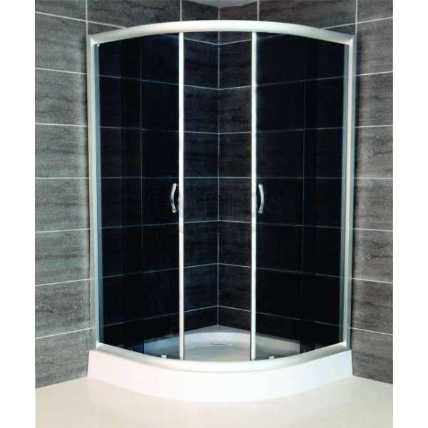 Овална душ кабина Chocolate комплект 80х80 черно стъкло gds_ICS 185G/80