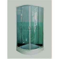 Овална душ кабина комплект 90х90 зелено стъкло gds_ICS 107V