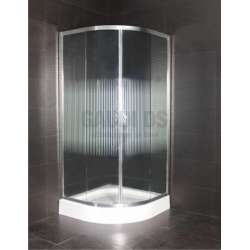 Овална душ кабина комплект 90х90 гравирано стъкло gds_ICS 185/100