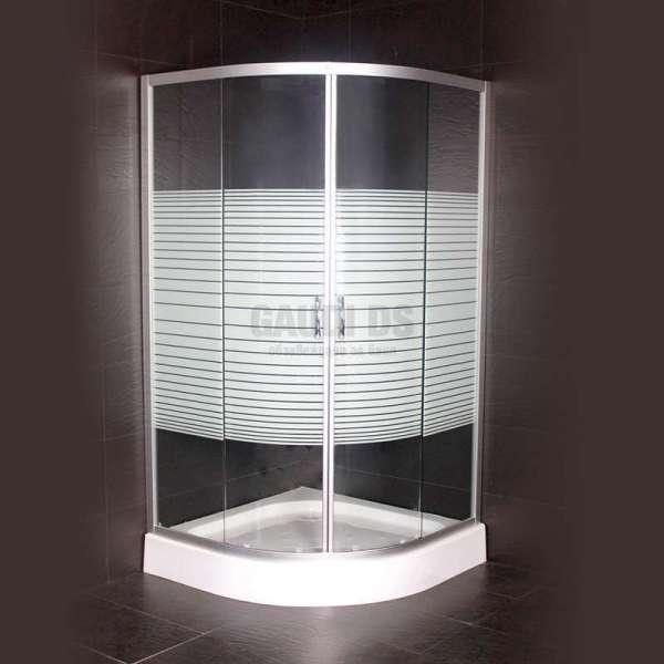 Овална душ кабина Zebra комплект 90х90 gds_ICS 107/31