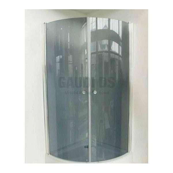 Овална душ кабина с отваряеми врати 90х90 - тонирано стъкло gds_ICS S109RG