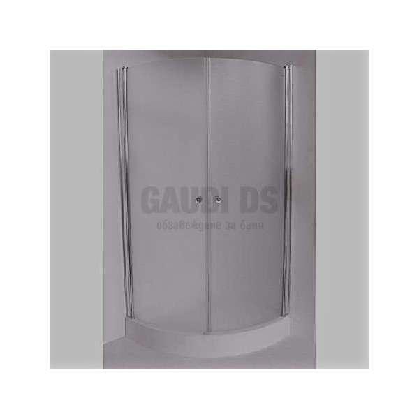 Овална душ кабина с отваряеми врати 90х90 - прозрачна gds_ICS S109