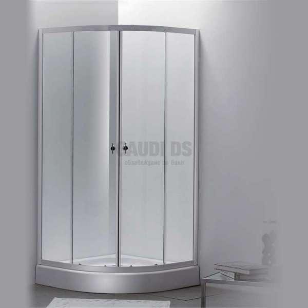 Овална душ кабина Autumn комплект 90х90 - прозрачна 4 мм gds_ICS 185A