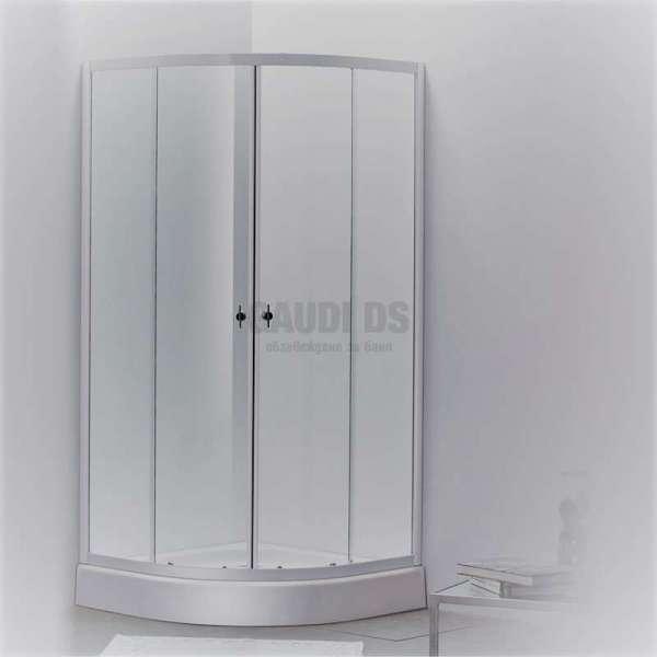 Овална душ кабина Autumn комплект 80х80 - прозрачна 4 мм gds_ICS 185A/80