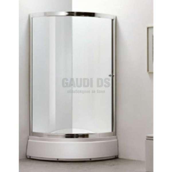 Овална душ кабина комплект 90х90 -мат, дълбоко корито gds_ICS 8512