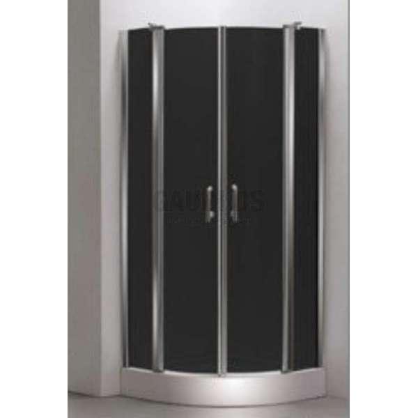 Овална душ кабина Velvet комплект 90х90 - черно стъкло gds_ICS 170GT