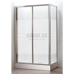 Правоъгълна душ кабина комплект80х120 - рисувано стъкло gds_ICS 153