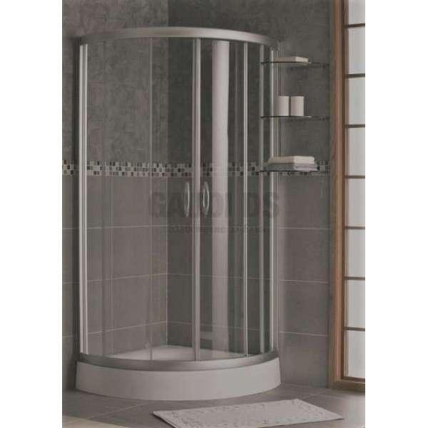 Овална душ кабина комплект 90х90 - мат, външни полици gds_ICS 175 S