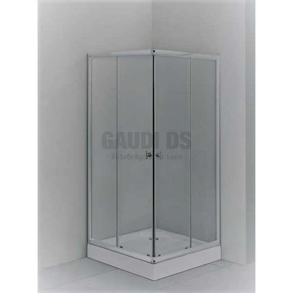 Квадратна душ кабина комплект 80х80 -матирано стъкло gds_ICS 275FC/80